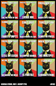 Business Cat Memes - justseeds may day cat meme