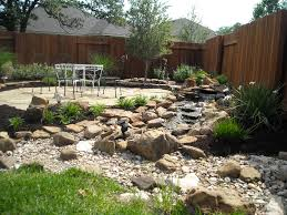elegant style of backyard design ideas with rocks