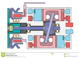 auto air conditioner compressor schematic stock vector image