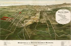 Wisconsin Topographic Map by The Suburbs Of Milwaukee Wisconsin 1892