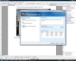installing visual studio 2008 and visual fortran to work together