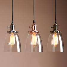 Hanging Industrial Lights by Vintage Industrial Ceiling Lamp Cafe Glass Pendant Light Shade