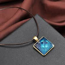 crystal pendant necklace aliexpress images The pyramid luminous glow in dark crystal pendant necklace jewelry jpg
