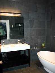 Black Slate Bathrooms Adoni Black Slate Bathroom Modern With Contemporary Bathtubs