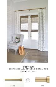 Umbra Bay Window Curtain Rod West Elm Oversized Adjustable Metal Rod Copycatchic