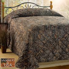 conceal brown rustic camo quilted bedspread bedding