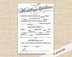 wedding card advice marriage advice from the kids table printable mad lib