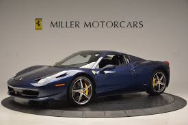 convertible ferrari 2014 ferrari 458 spider stock 4348 for sale near greenwich ct