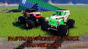 monster truck grave digger games pastana gravedigger monster trucks v1 0 for spin tires 2014