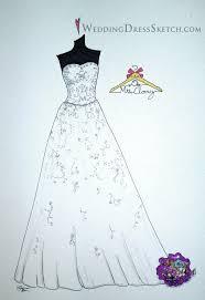 bride wedding hanger sketch wedding dress sketch com