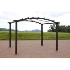 8 X 10 Pergola by Garden Oasis 8 U0027 X 10 U0027 Arched Steel Pergola Dark Brown Sears
