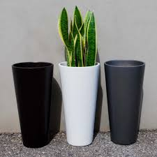 sonoma tall cylinder planter white planters indoor outdoor