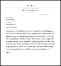 professional independent contractor cover letter sample u0026 writing