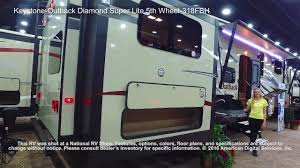 keystone outback diamond super lite 5th wheel 318fbh youtube