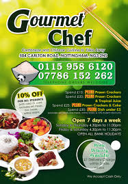 Gourmet Food Delivery Menu For Gourmet Chef Chinese Takeaway Delivery In Nottingham