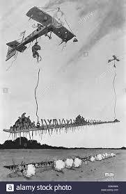 heath robinson considers an alternative to bombs in this cartoon