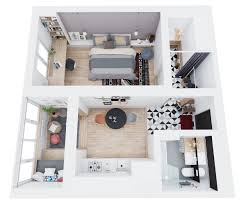 Modern Apartment Plans by 3 Modern Style Apartments Under 50 Square Meters Includes Floor