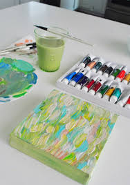 summer pinterest challenge making acrylic art young house love