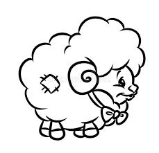 lamb coloring sheet eliolera com