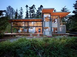 modern home design vancouver wa glass walled waterfront residence by finne architects google
