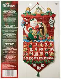 bucilla felt applique advent calendar kit 13 by 25