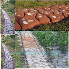 Stone Patio Diy by Lyine Diy Plastic Concrete Stepping Stone Patio Stamping