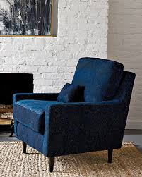 West Elm Armchair Everett Armchair Upholstered With Quilts Made From Overdyed Indigo