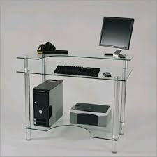 Small Glass Computer Desk Rta Small Glass Computer Desk Clear Glass Cut 106 Small Glass