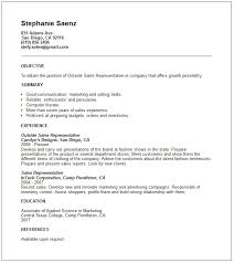 resume template sales representative resume templates sales