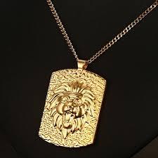 gold dog pendant necklace images Stunning mens necklace pendants stainless steel men dog tag lion jpg