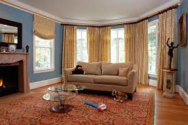 tan leather couch living room modern with custom area rug designer