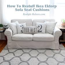 Cheap Sofa Cushions by Updated How To Restuff Ikea Ektrop Sofa Back Cushions