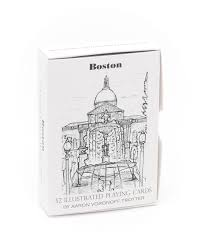 boston illustrated playing cards