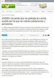 www anses calendario pago a jubilados pensionados 2016 anses recuerda que es gratuita la cuenta sueldo por la que se cobran