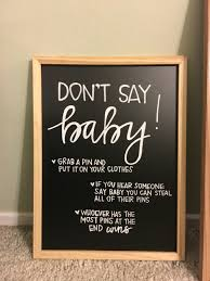 baby shower chalkboard baby shower chalkboard sign don t say baby chalkboard
