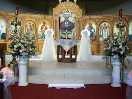 Wedding Decoration Church Ideas by Church Wedding Flowers Altar View At The Assumption Greek