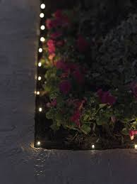 Solar Plant Lights by Led Solar String Lights For Garden Borders And Paths Gardeners Com