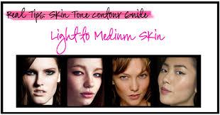 light medium skin tone real tips contour for light to medium skin behind the look