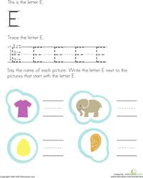 trace and write the letter e worksheet education com