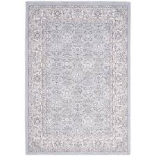 White Cotton Rug Safavieh Carmel Light Blue Ivory 4 Ft X 6 Ft Area Rug Car276c 4