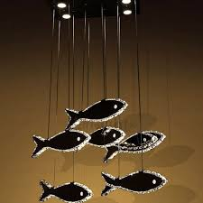 Led Pendant Light Fixtures Luxury Stainless Steel Fish Shaped Led Pendant Light Fixtures