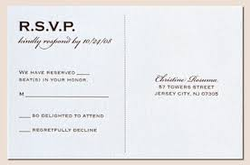 wedding rsvp wording exles rsvp postcard at the end of a seal and send invite also addresses
