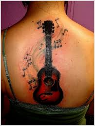 24 great guitar tattoo designs acoustic guitar tattoos tribal