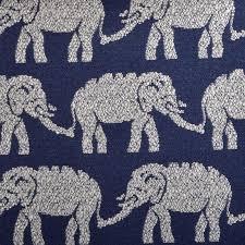 Upholstery Fabric Prints Elephant Upholstery Fabric Modern Navy Blue Fabric Animal