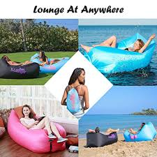 inflatable lounger with air valve and mesh 2017 new hammock