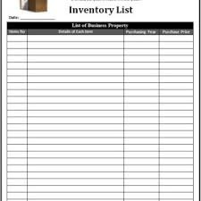 Chemical Inventory Template Excel by Personal Or Business Inventory List Template Exle Free Helloalive