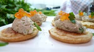 bellini canape delicious mountain smoked mackerel and apple pate blinis an