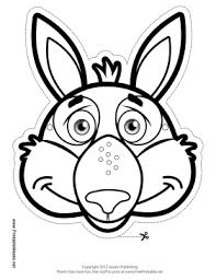 printable kangaroo mask color mask