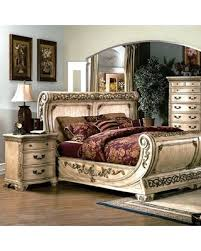 Sleigh Bed Set Spectacular Deal On Cannes Bedroom Set Gondola Sleigh Bed Whitewash
