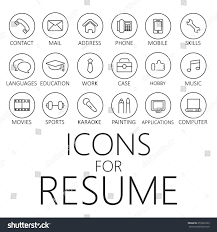 Resume Job by Thin Line Icons Pack Cv Resume Stock Vector 373932223 Shutterstock